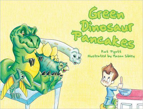Green Dinosaur Pancakes