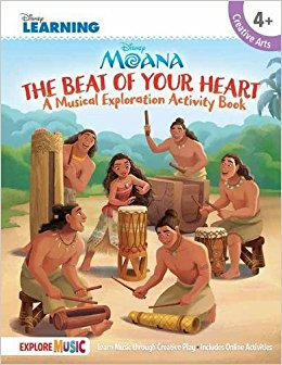 Moana - The Beat of Your Heart: A Musical Exploration Activity Book Disney Learning
