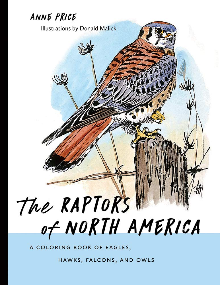 The Raptors of North America: A Coloring Book of Eagles, Hawks, Falcons, and Owls (Barbara Guth Worlds of Wonder Science Series for Young Readers)
